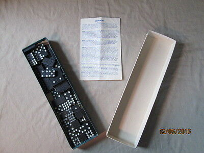 Antique Dominoes Chess game Bar Zim Toy Company 1959 with instructions 54 pieces