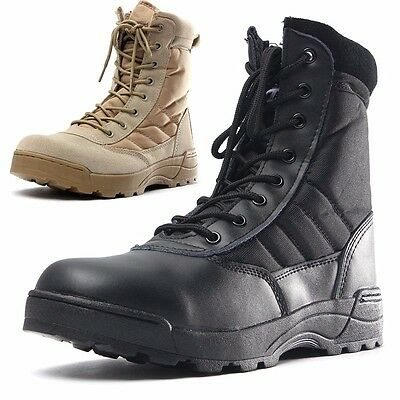 Mens Military Tactical Combat Boots Winter Hunting Hiking Army Camoflage Shoes