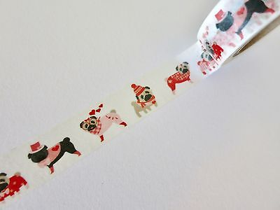 10m Pug Dogs Washi Tape ** Wedding Gift Wrapping Tape * Life Planner