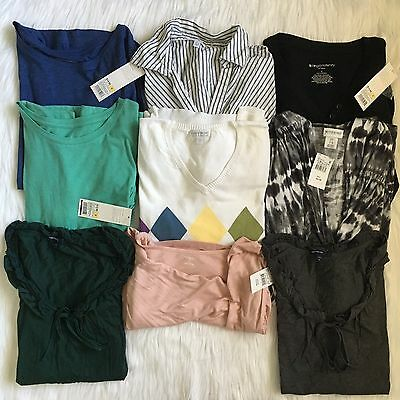 Maternity Clothing 9 Pc Lot NWT Pea in a Pod Liz Lange Gap Sweater Top Sz Small