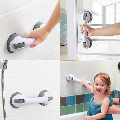 Modern Grip Suction Cup Tub Bath Shower Support Grab Bar Safety Handle