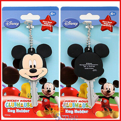 Disney Mickey Mouse Key Cap Key Chain Holder Mickey Mous Club House - Color Face