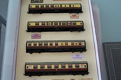 Hornby Dublo set of 4 BR super-detail carriages with restaurant WR 1950/60s