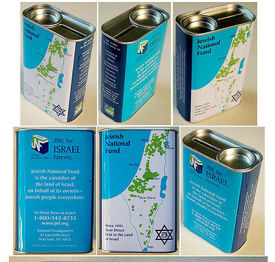 Vintge TIN BLUE BOX Fine ISRAEL MAP Pushke KKL-JNF Tzedakah JUDAICA Zion CHARITY
