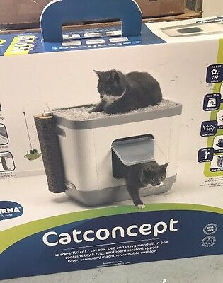 3-in-1 Cat Litter box, Cat Bed And Cat Scratch