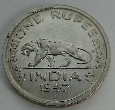 India British 1 Rupee 1947(b). KM#559 One Dollar coin. Florin. George VI. Bombay