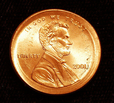 2001 Lincoln cent Broadstruck Error Red Uncirculated Free S&H