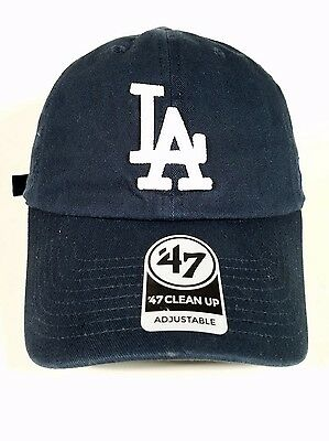Los Angeles Dodgers Navy 47 Brand Clean up hat soft Unstructured Unisex One Size
