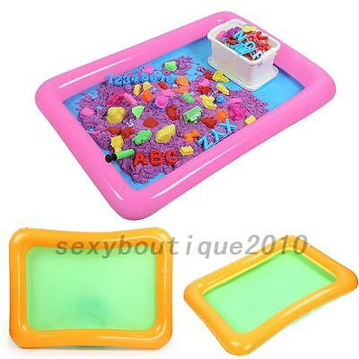 Fun Inflatable Sand Tray Castle Sand Table Children Indoor Play Sand Mud Toy New
