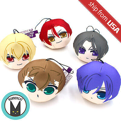 Japan Hakuoki Hakuouki Shinsengumi Chibi Plush Doll Soft Bean Bag Keychain cute