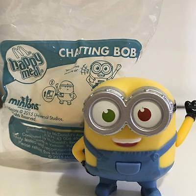 McDonald's Happy Meal Toys Minions 2015 Chatting Bob