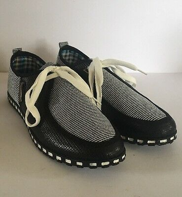 Men's Shoes Size 43, Black And White Brand New