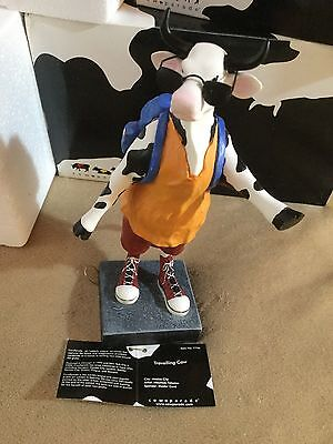 """Cow Parade Figurine """" Traveling Cow """" ( # 7736 - Retired & RARE )"""
