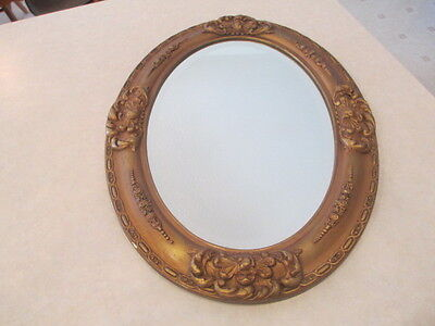 """Large 24"""" Antique Beveled Mirror with Frame"""