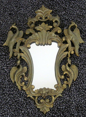 Antique French Solid Bronze Rococo Style Mirror Very Heavy 11 Kilos of Bronze
