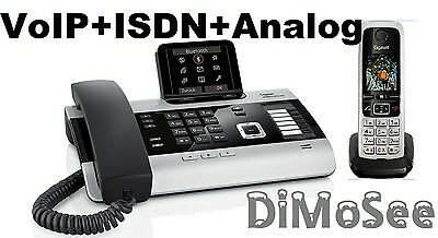 """►► Gigaset DX800A VoIP - ISDN - Analog """"All in one"""" + 1 Mobilteil C430H ◄◄"""