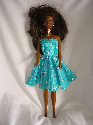 Full Circle Handmade Strapless Lycra Dress  FIt Barbie & Fashion Dolls sta green