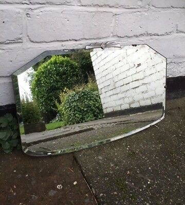 Beveled Frameless Mirror Lovely Mirror Art Deco Mirror With Silver Crest Mirror