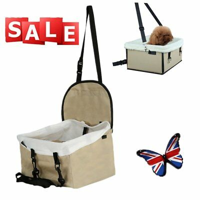 Folding Travel Dog Cat Pet Safety Belt Cover Puppy Booster Car Carrier Seat Bag