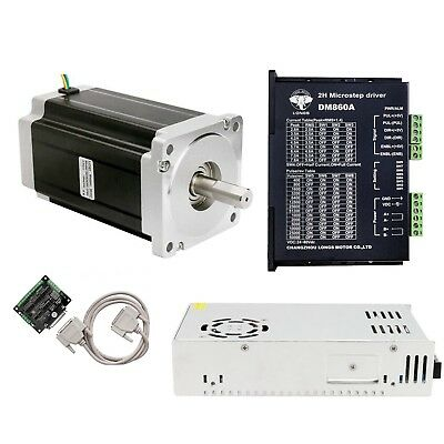 【Free ship】1Axis Nema 34 Stepper Motor 1600oz.in &Step Driver DM860A 7.8A CNC