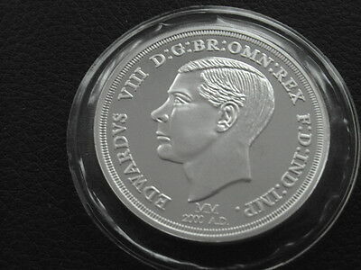 EDWARD VIII 1oz .999 FINE SILVER PROOF ROUND - milestones of the millennium