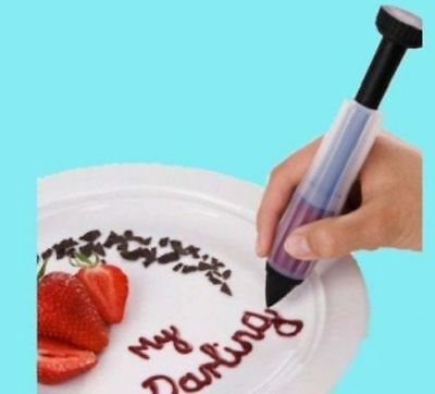 Cake Decorating  Plate Pen Biscuit Cookie Pastry Icing Chocolate Tool HGKD016