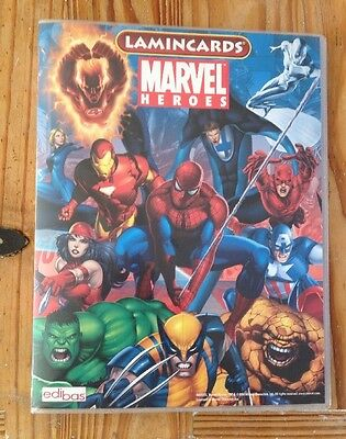 Marvel Heroes - Lamincards - Near Complete In Binder