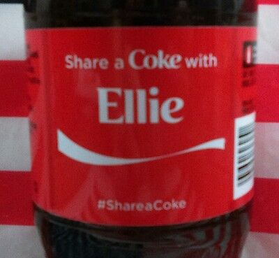 Share A Coke With Ellie Limited Edition Coca Cola Bottle 2015 USA