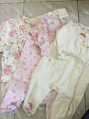 Next Baby Girls Floral Baby Grows 3-6 Months