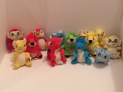 Lot of 13 Neopets Plushies-Kyrii,Yurble,Quiggle,Mynci,Bruce, Poogle