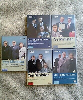 BBC Yes Minister DVD boxsets  series 1 2 and 3 and all in good condition