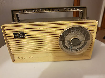 His Masters Voice Battery Operated Radio