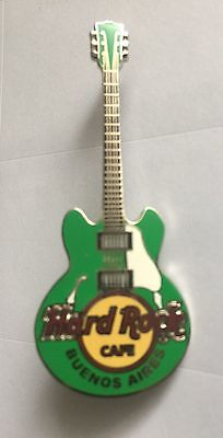 Hard Rock cafe Buenos Aires classic core guitar pin green version