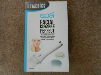HoMedics Spa Facial Cleanse and Perfect Brush Cleansing Electric Skin Care
