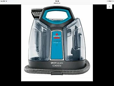 BISSELL 1923e SpotClean Cordless Cleaner Titanium/Disco Teal Brand New