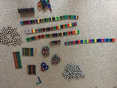 Joblot mixed Magnetix Geomag With metallic, cubes and loads of various shapes