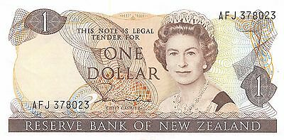 New Zealand  $1  ND.  1981  P  169a  Series  AFJ  Circulated Banknote