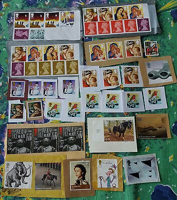£50+ FACE VALUE HIGH VALUE UNFRANKED Stamps ON Paper