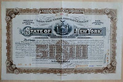 State of New York Loan 1911-1961 for Canal Improvement, 1914 (5.000 $)
