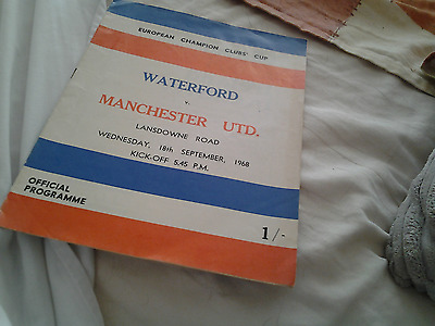 Waterford v Manchester utd 68.69 european cup
