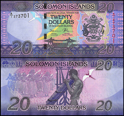 Solomon Islands 20 Dollars, 2017, P-NEW, UNC