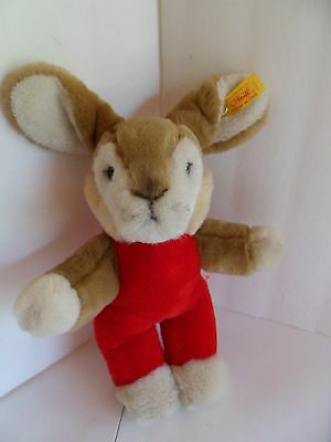 Steiff rabbit dangling button/flag made in Germany 1588