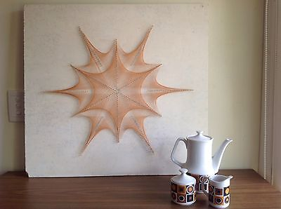 RETRO COLLECTABLE STRING ART VINTAGE ORIGINAL  1960's 1970's ADELAIDE HANGING