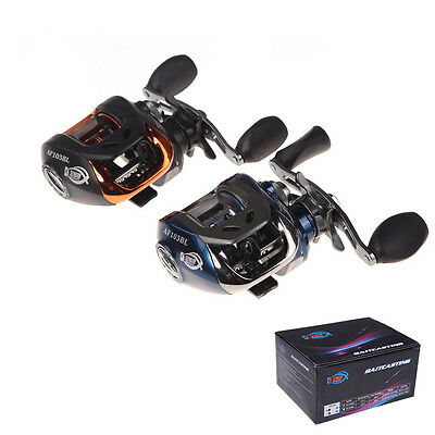 AF103 10+1BB Ball Bearings 6.3:1 Left/Right Hand Bait Casting Carp Fishing Reel