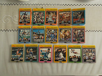 Kellogg's Olympic Champions 1991 Cards - Set Of 16 Different Cards