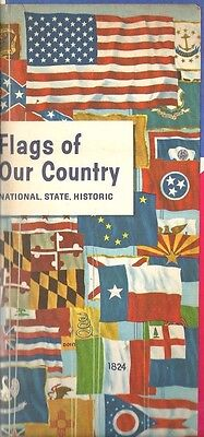 b7- Flags of Our Country - 1962 Humble Oil & Refining Co brochure 28 COLOR Pages
