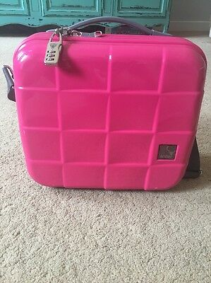 Antler Vanity/Cosmetic/ Travel Case - Hard Shell Glam Box - Hot Pink