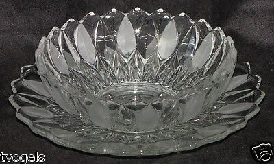 Vintage Mikasa Crystal Flared Leaf Serving Bowl/Plate