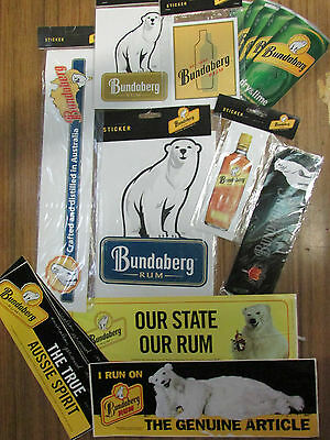 Bundaberg Rum Stickers x 9 plus 1 magnet & 5 postcards