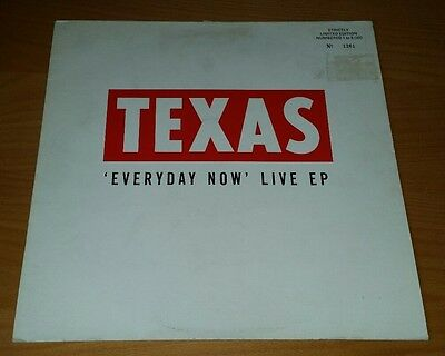 Texas Everyday Now Live EP. Numbered 1261/5000. TEXR312 1989 Sharleen Spiteri